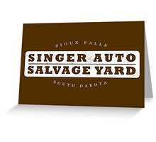 Singer Auto Salvage Yard Greeting Card