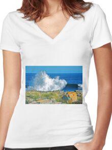 Ocean Bunny Women's Fitted V-Neck T-Shirt