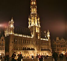 Grand Place by Night! by Gursimran Sibia