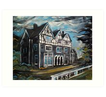 'Welsh Country House' Art Print