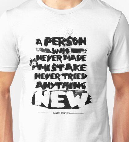 Quote Albert Einstein Unisex T-Shirt