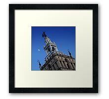 Plaza Moonrise Framed Print
