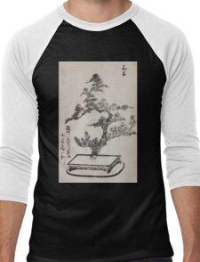 Yenshu ryu ikebana hiak bin no zu shiki konzatsu Flower arrangement in the Enshu style V1 1897 0049 Men's Baseball ¾ T-Shirt
