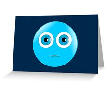 Serious Smiley Greeting Card