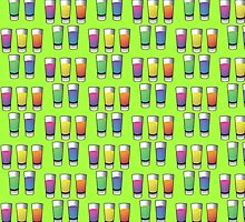 5 shooters colored spirits drinks by jazzydevil