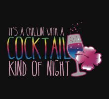 It's a chillin with a cocktail kind of night with frangipani flower and a glass of wine by jazzydevil