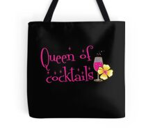Queen of cocktails with cute tropical flower drinks Tote Bag