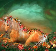 Unicorn Of The Roses by Carol  Cavalaris