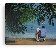 Oil - Counting Geese Canvas Print