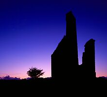 Engine House Silhouette at Dusk by Craig Joiner