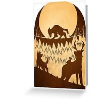Full Moon in the Forbidden Forest Greeting Card
