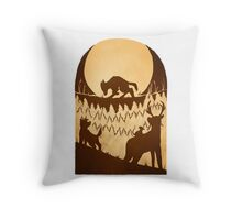 Full Moon in the Forbidden Forest Throw Pillow
