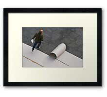 the jump Framed Print