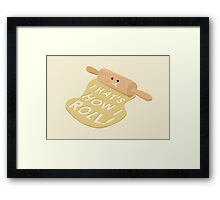 Dough Style Framed Print