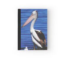 PROUD PELICAN - THE MURRAY RIVER - MURRAY BRIDGE Hardcover Journal