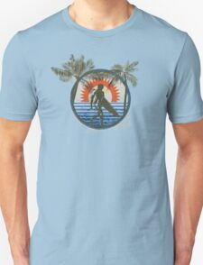 Life by the Beach - Surfing - Summer Sun and Palm Trees T-Shirt