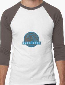 Blue Eyes  White Jurassic Dragon  Men's Baseball ¾ T-Shirt