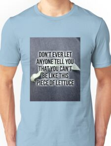 Owl City Inspirational Lettuce Quote Unisex T-Shirt