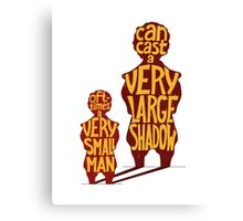Small man - large shadow, Game of Thrones Canvas Print
