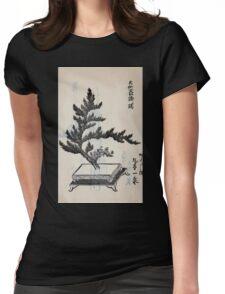Yenshu ryu ikebana hiak bin no zu shiki konzatsu Flower arrangement in the Enshu style V2 1897 0044 Womens Fitted T-Shirt