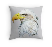 Bald Eagle Head Throw Pillow