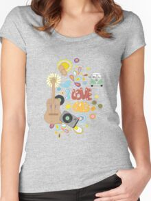 I Love the 60's Women's Fitted Scoop T-Shirt