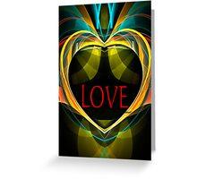"Fractal ""LOVE"" card Greeting Card"