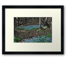 Blue Patch Framed Print