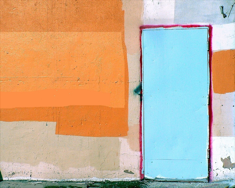 The Wall, the Door, the Abstract by paintingsheep