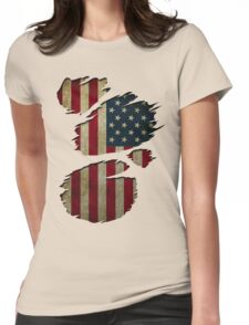 USA Inside Womens Fitted T-Shirt