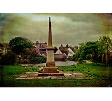 The War Memorial and Village Pond at Rottingdean Photographic Print