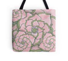 Pink Flower Collage Pattern Tote Bag