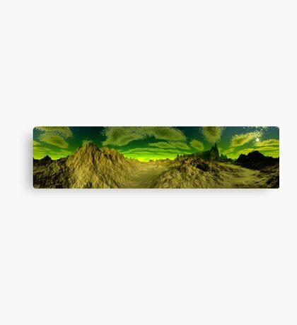I'm Dreaming of Green Skies - A Pano Canvas Print