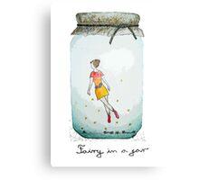 Fairy in a jar Canvas Print