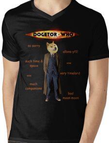 Dogetor Who Mens V-Neck T-Shirt