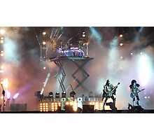 KISS live at Download 2015 Photographic Print