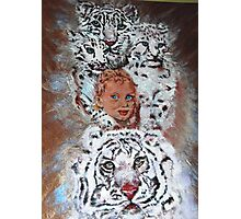 This is an Homage to Liberty & White Tigers Photographic Print