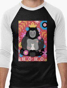 Koko the Gorilla  Men's Baseball ¾ T-Shirt