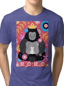Koko the Gorilla  Tri-blend T-Shirt