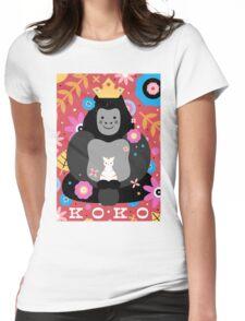 Koko the Gorilla  Womens Fitted T-Shirt