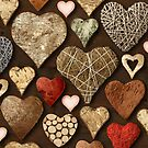 Heart shaped wooden things by sumners