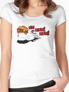 KING FU - An Elvis Partial Art Women's Fitted Scoop T-Shirt