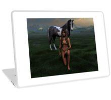 Erotic art hot sex Girl and horse green Laptop Skin