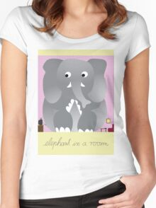 Elephant in a room Women's Fitted Scoop T-Shirt