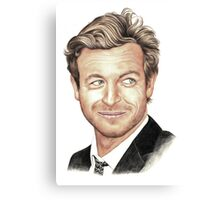The Mentalist played by Simon Baker Canvas Print