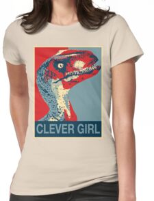 Raptor Propaganda - Clever Girl  Womens Fitted T-Shirt