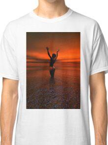 Erotic art hot sex Girl on the beach Classic T-Shirt