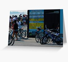 Bikes Pending Activity  Greeting Card