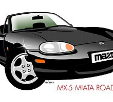 Mazda MX-5 Miata NB black by car2oonz