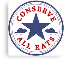 Conserve All Rats Canvas Print